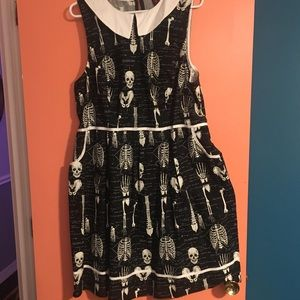 Spooky Skelton dress from ModCloth